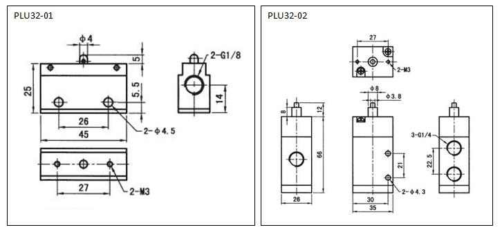 3 way 2 position plunger valve